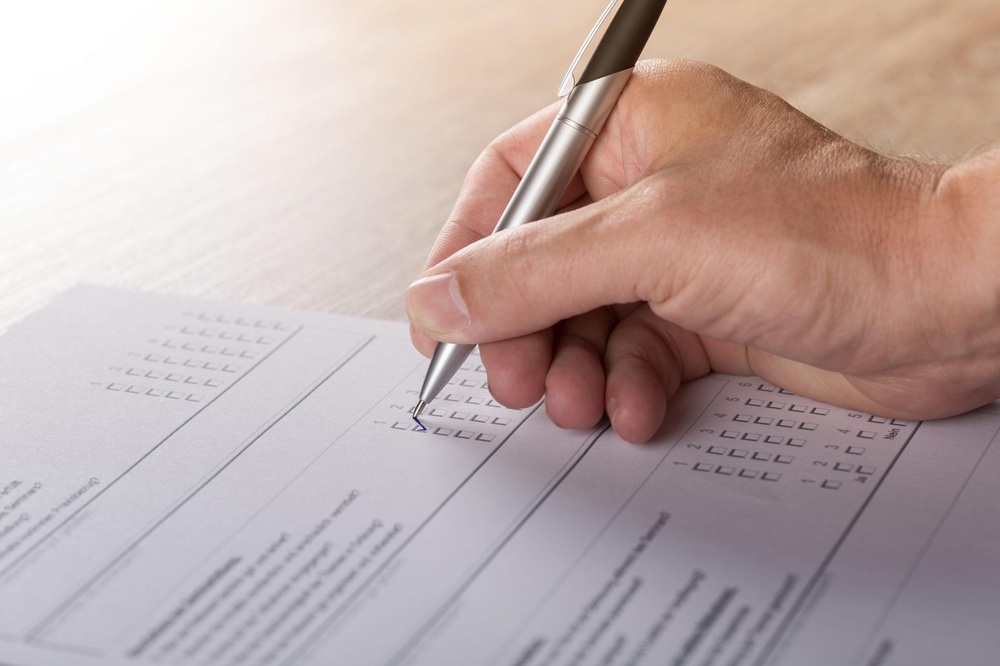 Survey sheet